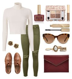 """""""WE ALL (FALL) DOWN"""" by m-phil ❤ liked on Polyvore featuring Ciaté, Current/Elliott, A.L.C., Gap, Dolce&Gabbana, Stila, Michael Kors, Tiffany & Co., Rebecca Minkoff and Fall"""
