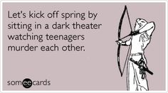Happy Spring, and Happy Hunger Games.