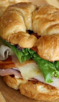 Club Croissants with Red Pepper Onion Mayo