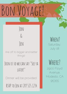 Goodbye Party Invitation Template by TantalizingTemplates on Etsy
