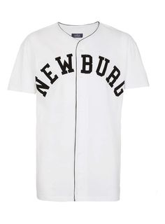 White Newburg Baseball T-Shirt - New In - TOPMAN