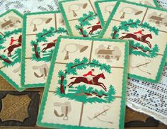 Vintage Horse Playing Cards via Etsy.