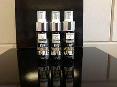 Extract van vanille in een sprayfles  Deze vanille spray kun je gebruiken voor al je bereidingen met vanille www.bommelsconserven.nl