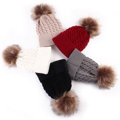Fashion Toddle Infant Newborn Winter Warmer Baby Knitted Wool Hat Kids Warm Cap Girls Boys Knitted Hats Wool Fur Ball Caps #>=#>=#>=#>=#> Click on the pin to check out discount price, color, size, shipping, etc. Save and like it!