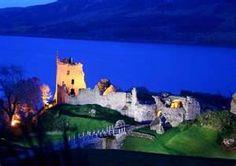 Urquhart Castle in the evening
