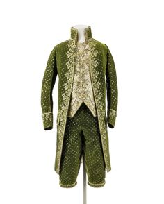 Suit ca. 1785  From the Kunstgewerbemuseum, Staatliche Museen zu Berlin via Europeana Fashion