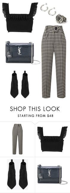 """""""Untitled #2122"""" by kellawear ❤ liked on Polyvore featuring Petar Petrov, River Island and Yves Saint Laurent"""