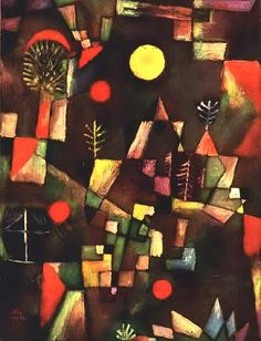 113-Turhan Nacar- PAUL KLEE... (1879-1940) _______________________________________________ Paul Klee, Franz Marc, Kandinsky, Full Moon, Fine Art Photography, Abstract Art, Paintings, Google, Rural House