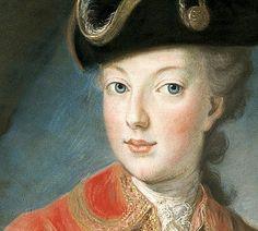 detail from a portrait of Marie Antoinette by Joseph Krantzinger, 1771.