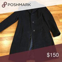 "DKNY wool dress coat, perfect condition! Beautiful DKNY wool dress coat. Three buttons, 39"" long. Perfect condition! DKNY Jackets & Coats"