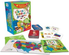 Educational board games for homeschool or at-home learning: Scrambled States of America for US geography