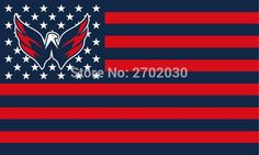 #WASHINGTON #CAPITALS #HOCKEY #SPORTS #TEAM #STAR #& #STRIPE #US #NATIONAL #FLAG #3FT #X #5FT #CUSTOM #BANNER #WITH #SLEEVE #TWO #GROMETS #90*150CM