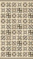 Northcott A Stitch In Time 39357-12 Cream/Taupe Brown 3 1/2in Quilt Block Panel