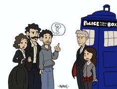 a otra puerta del tiempoVersión pintadita en condiciones de este post. El Ministerio del Tiempo / Doctor Who crossover por Paula.