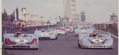 Nurburgring 1971 1000km. The formation lap. The winner No.3 Porsche 908/03 driven by Vic Elford and Gerard Larrousse, No.4 Gijs van Lennep and Helmut Marko, No.2 Siffert and Bell, No.1 Rodríguez