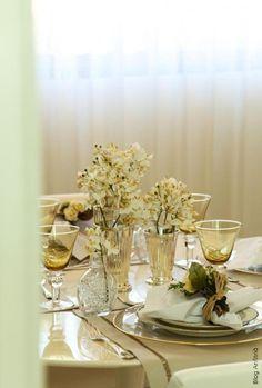 MESA DE ALMOÇO-2 como receber em casa decoração mesas