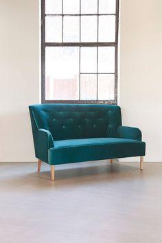 Slide View: 1: Rita 2-Seater Velvet Sofa