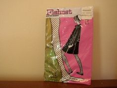 Vintage Fishnet stockings.  I wore mine with a poor boy shirt, hip hugger skirt, and white go go boots.
