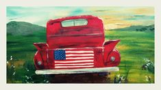 Night Painting, Easy Canvas Painting, Flag Art, Summer Painting, Spring Painting, American Flag Art, Blue Painting, Wine And Canvas, Watercolour Inspiration