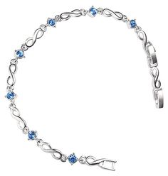 Silvertone and faux stones bracelet features interlocking infinity symbols, which on Avon Empowerment products represent lives with unlimite...  $5.00. www.youravon.com/lalbrecht