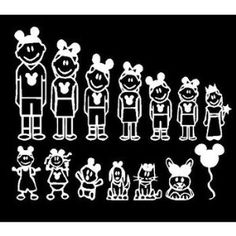 Minion Stick Figure Family Car Decal Sticker By WordFactoryDesign - Family decal stickers for cars