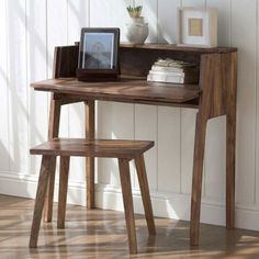 Foldaway Console Desk and Set-Me-Down-Anywhere Stool   Office   By Room   Furniture   VivaTerra