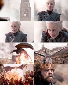 The destruction of Kings Landing. Episode 5 Season 8 Game of Thrones. Arte Game Of Thrones, Game Of Thrones Facts, Game Of Thrones Quotes, Game Of Thrones Funny, Cersei Lannister, Daenerys Targaryen, Khaleesi, Got Dragons, Mother Of Dragons