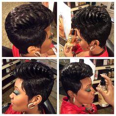 Glammmmmmarrrrrrr... #hairextentions #shorthair #27pc #GlamarGoldLabel www.geraldlamar.com
