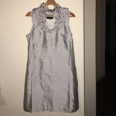 CYNTHIA ROWLEY stripe silk ruffle dress NEW SZ 8 Beautiful and NEWhidden side zipperMAKE ME AN OFFER Let's Bundle! Cynthia Rowley Dresses Midi