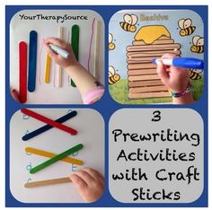 OT Activity of the Week: 3 Pre-Writing Activities Using Craft Sticks- pinned by @PediaStaff – Please Visit  ht.ly/63sNt for all our pediatric therapy pins