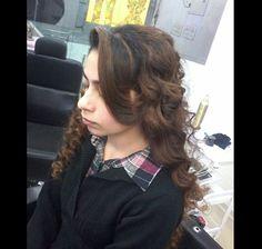 Hair setting done by Ritu Thakur