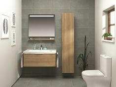 Arredare un bagno con mobile lavabo colore nero specchio con