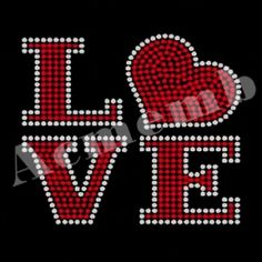 Shining Love Valentine Rhinestone Transfer New Arrival