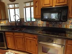 dusty coyote: mexican tile kitchen backsplash diy | cool tile