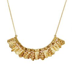 Look what I found at UncommonGoods: Ruffled Gold Dipped Lace Statement Necklace for $225.00