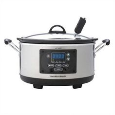 Found it at Wayfair - Set n' Forget Programmable Slow Cooker in Silver