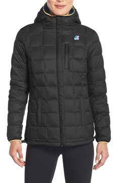 K-Way 'Coralie Thermo Stretch' Reversible Waterproof Down Jacket