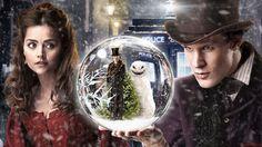 Doctor Who Snowball Snow Winter Tardis Jenna-Louise Coleman Matt Smith wallpaper background