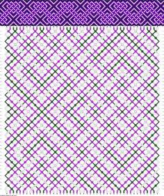 3 colors, 46 strings(12a; 22b; 12c), 48 rows #friendship #bracelet #pattern #wristband #handmade #craft #DIY #celtic #zigzag #triangles #pretzel Pattern#89807 by JugglingJack