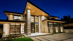 $7.588 Million Newly Built Contemporary Mansion In West Vancouver, Canada Front Exterior