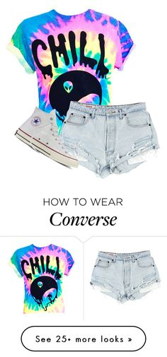 """Chill"" by clouded4ever on Polyvore featuring Converse"