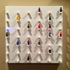 ikea hack lego minifig wall display