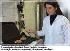 A pesquisadora Camila de Souza Paglarini, autora da dissertação: em busca de produtos cárneos mais saudáveis