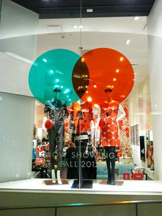Kate Spade polka dot window