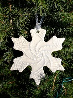 Ceramic Christmas Keepsake Snowflake by GreenLeafStudiosEtsy