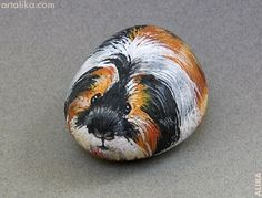 Hand Painted Rocks Animals | Hand painted rock ( stone) Guinea pig | Rock On !