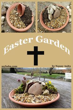 Make an easter garden activity how to guide christ centered easter activities and crafts make the death and resurrection of jesus meaningful and memorable with these ideas! easter jesus christ centered easter crafts for sunday school i can teach my child! Easter Bingo, Easter Puzzles, Easter Activities For Kids, Easter Crafts For Kids, Easter Jesus Crafts, Easter Decor, Easter Ideas, Holy Week Activities, Easter Lunch