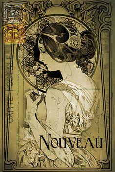 Art Nouveau Sampler | Sunday Postcard Art