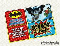 Lego BATMAN Birthday Party Invitation - DIY Printable