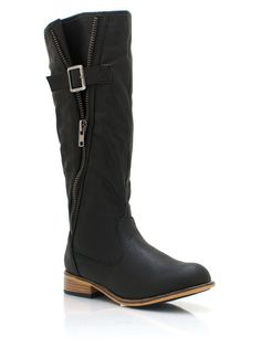 I wish I could wear these! side zipper boots $31.95, love them in brown!!